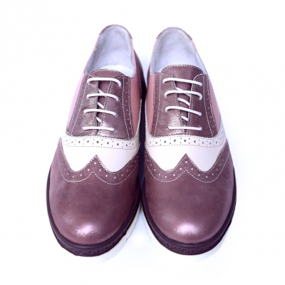 Pantofi dama din piele naturala, CZR, Peter, Roz, 39 EU1