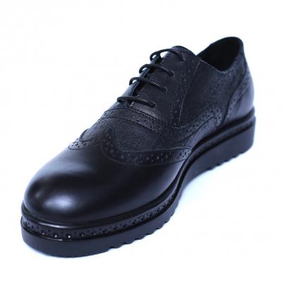 Pantofi dama din piele naturala, CZR, Peter, Negru, 40 EU [0]