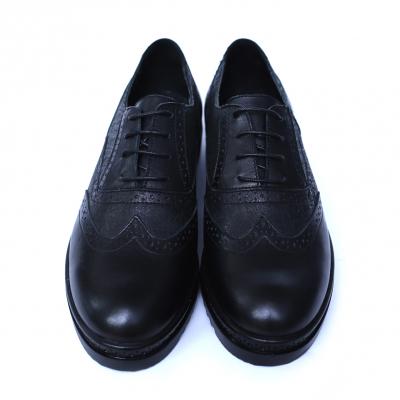 Pantofi dama din piele naturala, CZR, Peter, Negru, 40 EU [1]