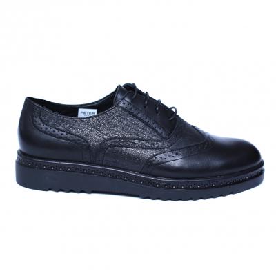 Pantofi dama din piele naturala, CZR, Peter, Negru, 40 EU [3]