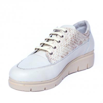 Pantofi dama din piele naturala, MIO, Peter, Alb, 41 EU [0]
