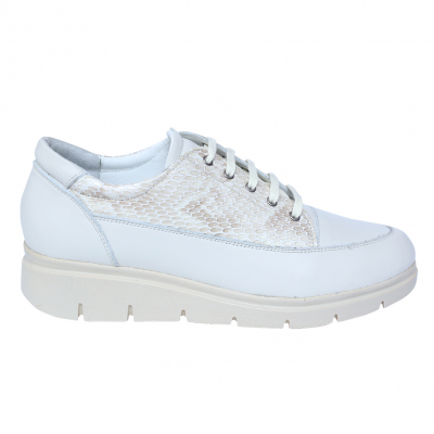 Pantofi dama din piele naturala, MIO, Peter, Alb, 41 EU [3]