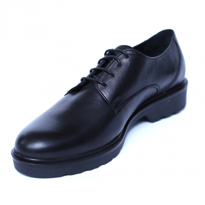 Pantofi dama din piele naturala, AML, Peter, Negru, 37 EU [4]