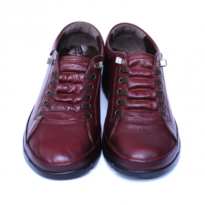 Pantofi dama din piele naturala, Snk, Goretti, Bordeaux, 37 EU5