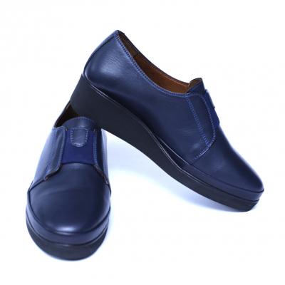 Pantofi dama din piele naturala, Sina, Anna Viotti, Albastru, 38 EU [5]