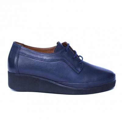 Pantofi dama din piele naturala, Jaqueline, Anna Viotti, Albastru, 40 EU [7]