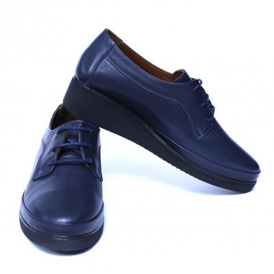 Pantofi dama din piele naturala, Jaqueline, Anna Viotti, Albastru, 40 EU [5]