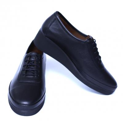 Pantofi dama din piele naturala, Sarabia, Anna Viotti, Negru, 40 EU [6]