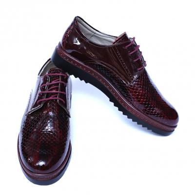 Pantofi dama din piele naturala, Cameleon, Alexin, Bordeaux, 38 EU5