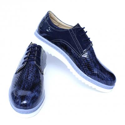 Pantofi dama din piele naturala, Cameleon, Alexin, Albastru, 40 EU [6]