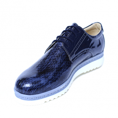 Pantofi dama din piele naturala, Cameleon, Alexin, Albastru, 40 EU [4]