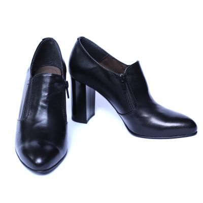 Pantofi dama din piele naturala, Serena, Nist, Negru, 35 EU4