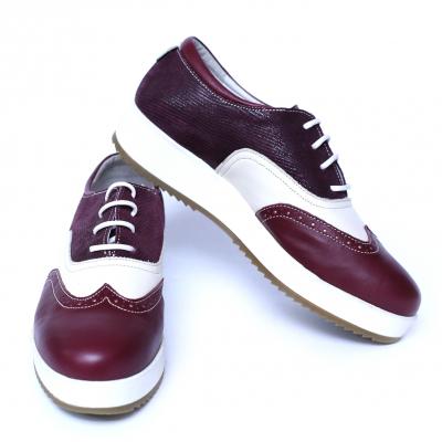 Pantofi dama din piele, Joe, Cobra, Bordeaux, 39 EU4