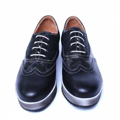 Pantofi dama din piele naturala, Joe, Cobra, Negru, 39 EU6