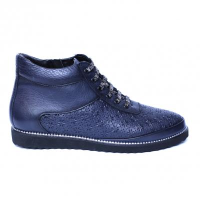 Pantofi dama din piele naturala, Row, Relin, Albastru, 37 EU [2]