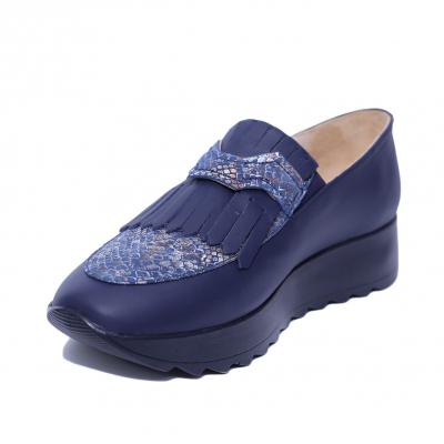 Pantofi dama din piele naturala, Nicole, PETER, Albastru, 37 EU0