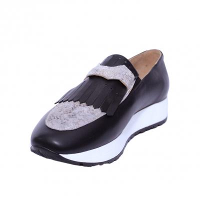 Pantofi dama din piele naturala, Nicole, PETER, Negru, 36 EU0