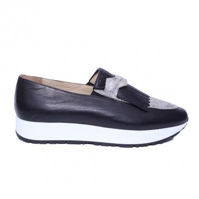 Pantofi dama din piele naturala, Nicole, PETER, Negru, 36 EU2