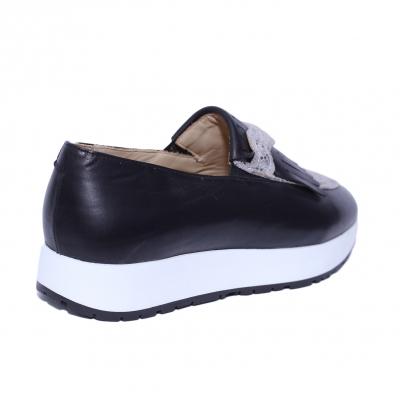 Pantofi dama din piele naturala, Nicole, PETER, Negru, 36 EU1