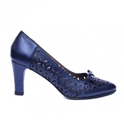Pantofi dama din piele naturala, Sofia, Nist, Albastru, 37 EU0