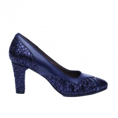Pantofi dama din piele naturala, Weddy, Nist, Albastru, 37 EU0