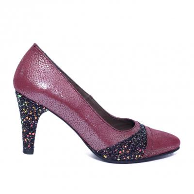 Pantofi dama din piele naturala, Style, Nist, Bordeaux, 36 EU [0]