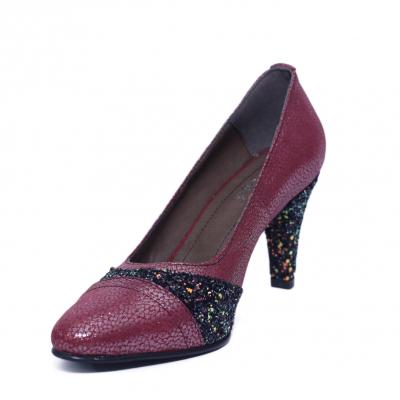 Pantofi dama din piele naturala, Style, Nist, Bordeaux, 36 EU [1]
