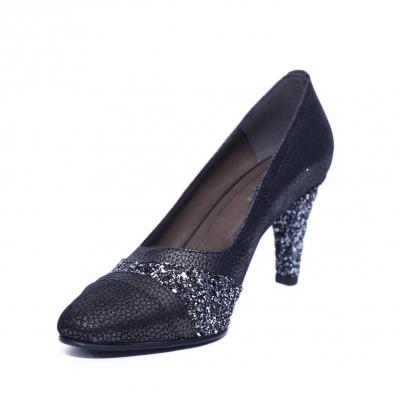 Pantofi dama din piele naturala, Diamond, Nist, Negru, 36 EU [1]