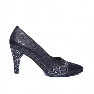 Pantofi dama din piele naturala, Diamond, Nist, Negru, 36 EU0