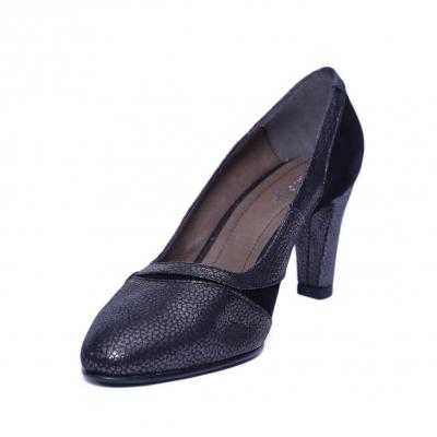 Pantofi dama din piele naturala, Zeina Box, Nist, Negru, 36 EU [1]