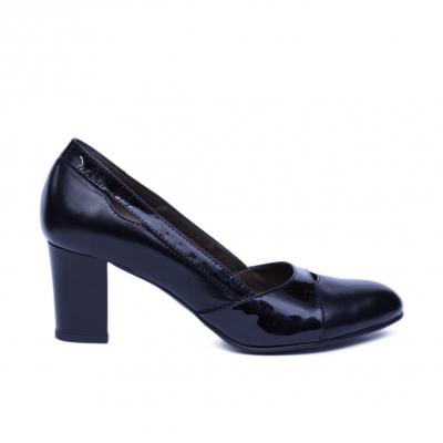 Pantofi dama din piele naturala, Lina, Nist, Negru, 36 EU0