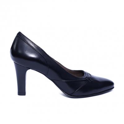 Pantofi dama din piele naturala, Leia, Nist, Negru, 37 EU [0]