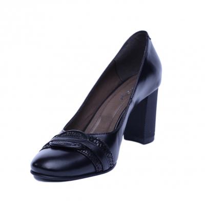 Pantofi dama din piele naturala, Lara, Nist, Negru, 38 EU1
