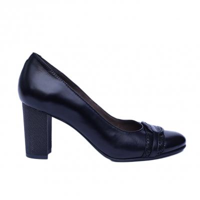 Pantofi dama din piele naturala, Lara, Nist, Negru, 38 EU0