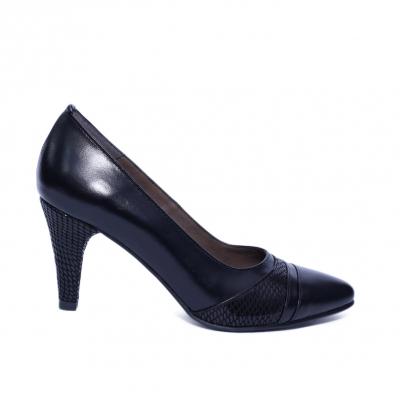 Pantofi dama din piele naturala, Havana, Nist, Negru, 36 EU0