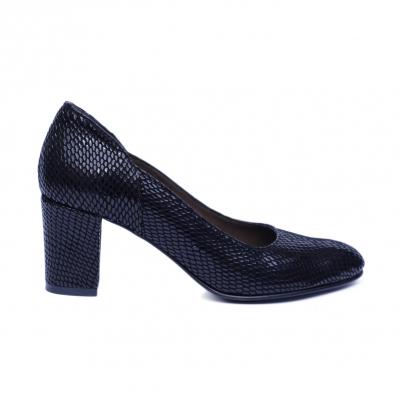 Pantofi dama din piele naturala, Margareth, Nist, Negru, 38 EU [0]