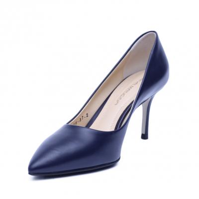 Pantofi dama din piele naturala, Elle, RIVA MANCINA, Albastru, 37 EU1