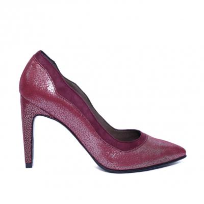 Pantofi dama din piele naturala, Dona, Nist, Bordeaux, 36 EU [0]