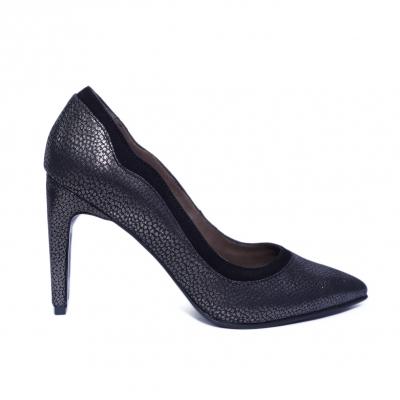 Pantofi dama din piele naturala, Nadia, Nist, Negru, 36 EU [0]