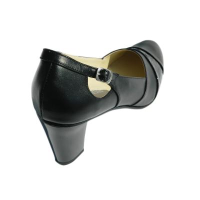 Pantofi dama cu catarama Foxy, piele naturala, Agatia, Negru, 36 EU [1]