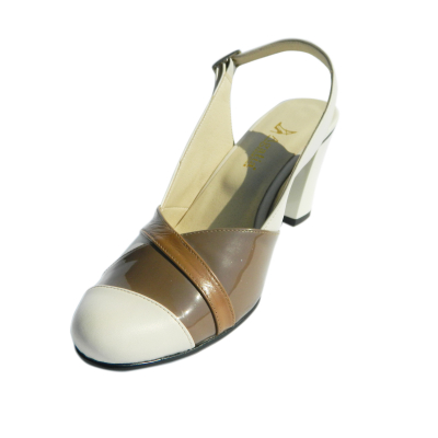 Pantofi dama din piele naturala, Brenda, Agatia, Bej, 36 EU0