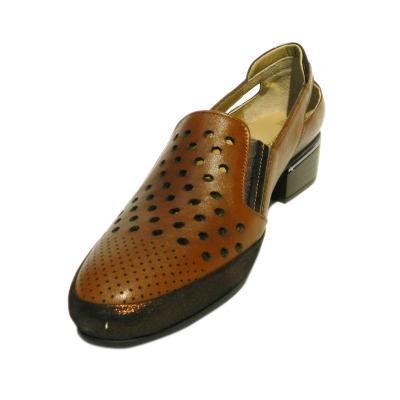 Pantofi dama cu perforatii Irina, piele naturala, Gitanos, Maro, 40 EU2
