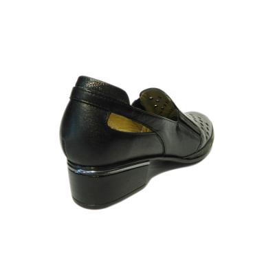 Pantofi dama cu perforatii Irina, piele naturala, Gitanos, Negru, 40 EU [1]