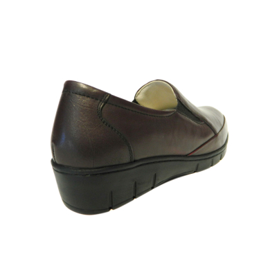 Pantofi dama cu talpa ortopedica Jevy, piele naturala, Gitanos, Bordeaux, 36 EU1