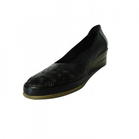 Pantofi dama din piele naturala, Ashley, Gitanos, Negru, 38 EU [2]