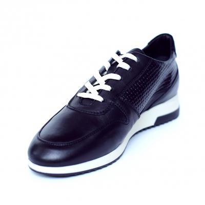 Pantofi dama din piele naturala cu model, Naty, Peter, Negru, 35 EU [2]
