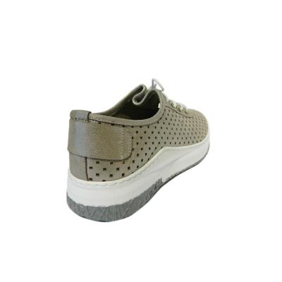 Pantofi dama cu perforatii Detta, piele naturala, Gitanos, Crem, 36 EU1