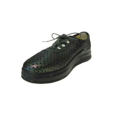 Pantofi dama cu perforatii Detta, piele naturala, Gitanos, Verde, 36 EU [0]