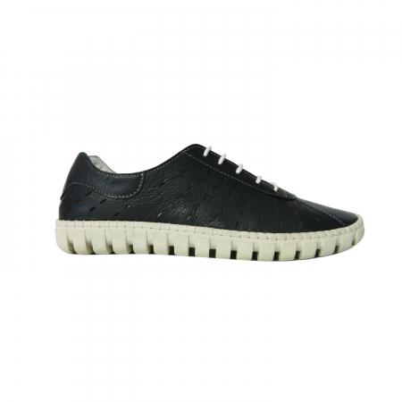 Pantofi dama din piele naturala, Julia, Gitanos, Albastru, 40 EU0