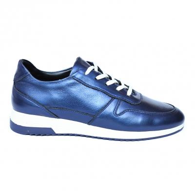 Pantofi dama din piele naturala, Naty, Peter, Albastru, 35 EU [0]